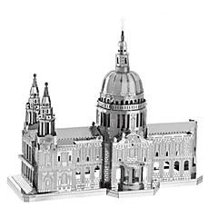 3D-puslespill Metallpuslespill som Gave Byggeklosser Modell- og byggeleke Kjent bygning Arkitektur Metall 14 år og oppover Sølv Leketøy
