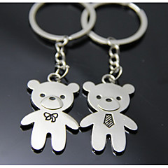 Bear Stainless Steel Keychain Favors Piece/Set Keychains Garden Theme Vegas Theme Butterfly Theme Classic Theme Non-personalised Silver