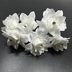 Vrouwen Bergkristal Helm-Bruiloft Speciale gelegenheden Informeel Kantoor & Cariere Bloemen Haarclip Haarspeld Haarstokje 6-delig