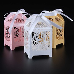50pcs/lot birdcage laser cut wedding favor box love birds candy box gift box wedding favors and gifts party supplies