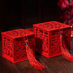 10 יחידה / סט מחזיק לטובת-מעוקב עץ קופסאות קישוט צנצנות ממתקים ובקבוקים ללא התאמה אישית