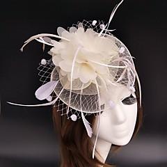 Penas Rede Capacete-Casamento Ocasião Especial Fascinador Flores Chapéus Véus de Rede Grinaldas 1 Peça