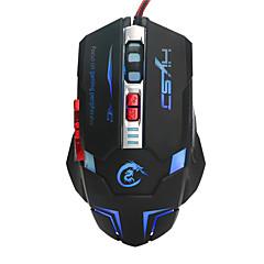 Usb optik fare led oyun fare 7 düğmeler arkadan aydınlatmalı kablolu bilgisayar fare ayarlanabilir 3200dpi pc mouse gamer for laptop