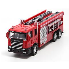 Véhicule de Pompier Véhicules à Friction Arrière Jouets de voiture 1:60 Métal Plastique Rouge Maquette & Jeu de Construction