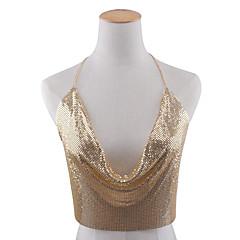 Damskie Biżuteria Łańcuch nadwozia / Belly Chain Stop Modny Leaf Shape Gold Black Silver BiżuteriaSpecjalne okazje Urodziny Casual