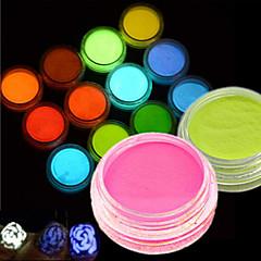 12bottle/set Unha Arte Decoração strass pérolas maquiagem Cosméticos Designs para Manicure