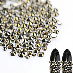 About 500pcs/bag Nagel-Kunst-Dekoration Strassperlen Make-up kosmetische Nagelkunst Design