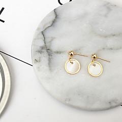 スタッドピアス ファッション 貝殻 合金 円形 ゴールド ジュエリー のために 日常 1ペア