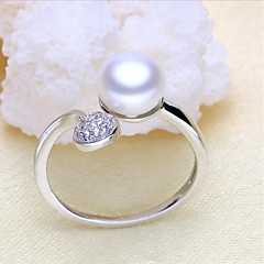 Ring Engagement Ring Pearl Love Movie Jewelry Fashion Statement Jewelry Africa Classic Silver Pearl Zircon Jewelry ForWedding Party
