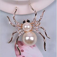 Broschen Imitierte Perlen Strass Aleación Weiß Tier Design Schmuck Hochzeit Party Halloween