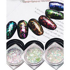 6pcs Nagel-Kunst-Dekoration Strassperlen Make-up kosmetische Nagelkunst Design