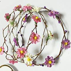 Umělá hmota Koženka Přílba-Svatba Zvláštní příležitost Neformální Outdoor Květiny Çelenkler 5 kusů