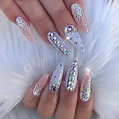 blandet størrelse glitter akryl rhinstein neglekunst dekorasjoner