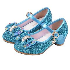 בנות-עקבים-PU-בלרינה בייסיק נעליים זוהרות--שמלה-עקב נמוך