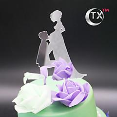 Decorações de Bolo Não-personalizado Casal Clássico Acrilíco Festa de 16 Anos Tema Clássico PPO