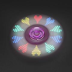Toupies Fidget Spinner à main Jouets Tri-Spinner LED Spinner Métal Plastique EDCSoulagement de stress et l'anxiété Jouets de bureau Pour