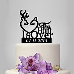 Decorações de Bolo Personalizado Acrilíco Casamento Aniversário Despedida de Solteira Tema  Jardim Tema Clássico PPO