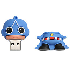 New Cartoon Creative American captain USB 2.0 8GB Flash Drive U Disk Memory Stick