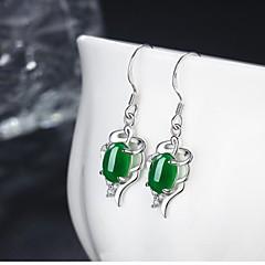 עגילי טיפה עיצוב בייסיק נחושת אדום ירוק אזמרגד תכשיטים ל יומי קזו'אל 1 זוג