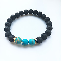 Volcano Stone Stone Turquoise Emperor Fashion Beaded Bracelet