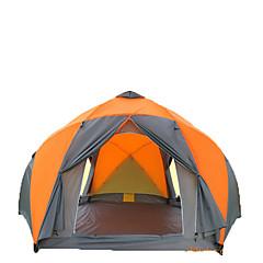 >8 személy Sátor Dupla Összecsukható sátor Egy szoba kemping sátor >3000 mm Üvegszál Párásodás gátló Vízálló Lélegzési képesség-Túrázás