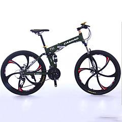 Mountain Bike Folding bicikle Biciklizam 27 Brzina 26 inča/700CC 50mm Muškarci Uniseks Odrasla osoba Shimano Dvostruka disk kočnica