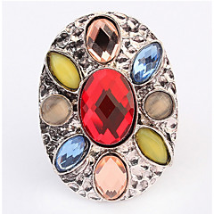 バンドリング 指輪 模造ダイヤモンドベーシック ユニーク ロゴデザイン 幾何学形 Rock かわいいスタイル 欧米の DIY ヴィクトリアン ステートメントジュエリー アフリカ シンプルなスタイル アメリカ 耐久 ブリティッシュ ファッション クラシック ビンテージ