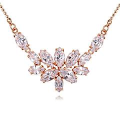 בגדי ריקוד נשים שרשראות תליון Geometric Shape אבן יקרה נחושת ציפוי זהב עיצוב מיוחד סגנון נתלה אופנתי תכשיטי יוקרה תכשיטים לחתונה Party
