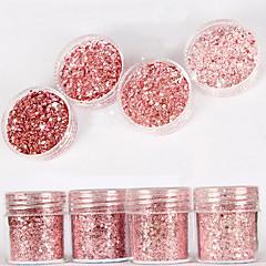 10ml rosa shimmer diamante brilhante em pó misturar com lantejoulas prego gradiente laser em pó nail art decoração para unha polonês