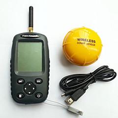 100M LED Wireless Charging dot matrix Detect Depth Sonar Sensor Fish Finder FFW718 1 Set