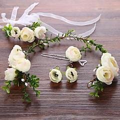 Liga Capacete-Casamento Ocasião Especial Flores Cabelo da vara