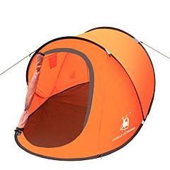 徽羚羊 2 אנשים אוהל יחיד אוהל אוטומטי חדר אחד קמפינג אוהל סיבי זכוכית אוקספורד עמיד למים נשימה עמיד אולטרה סגול עמיד ברוח מתקפל-צעידה קמפינג