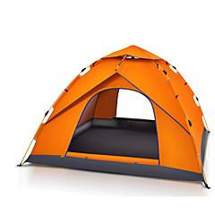 3-4 személy Sátor Egyszemélyes Automatikus sátor Egy szoba kemping sátor 2000-3000 mm Üvegszál Oxford Vízálló Hordozható-Túrázás Kemping