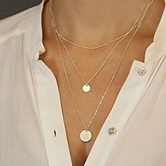 Women's Pendant Necklaces Long Necklace Jewelry Alloy Fashion Sexy Golden Jewelry For Party Daily Casual Sports Beach 1pc