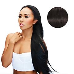 9pcs / set deluxe 120g # 1b negru natural negru în extensie de păr 16inch 20inch 100% păr uman