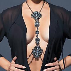 נשים תכשיטי גוף שרשרת בטן שרשרת גוף / בטן שרשרת אופנתי סגנון בוהמיה היפ-הופ עבודת יד קשת Turkish שרף סגסוגת טיפה לבן שחור כחול ורוד