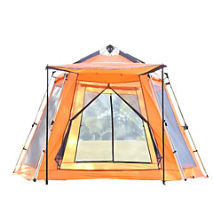 5-8 People Outdoor Camping Hexagonal Automatic Courtyard Leisure Large Tents Camping Awning Tent