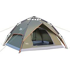 DesertFox® 3-4 사람 텐트 더블 베이스 캠핑 텐트 원 룸 자동 텐트 방수 비 방지 용 캠핑 2000-3000 mm 옥스포드 CM
