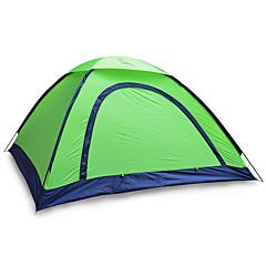 2人 テント シングル 折り畳みテント 1つのルーム キャンプテント 1000-1500 mm ファイバーグラス オックスフォード 防水 携帯用-ハイキング キャンピング-
