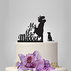 Tortenfiguren & Dekoration individualisiert Klassisches Paar Acryl Hochzeit Jubliläum BrautpartyGarten Thema Klassisches Thema rustikales