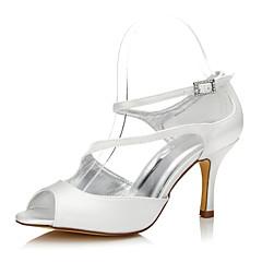 Feminino-Sapatos De Casamento-Conforto Sapatos clube Sapatos Dyeable-Salto Agulha--Seda-Casamento Ar-Livre Escritório & Trabalho Social
