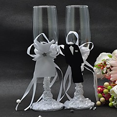New Style Bride and Groom Formal Dress Wine Glass Set
