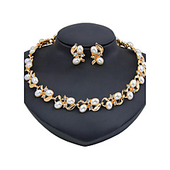 Jewelry Set Pearl Necklace Bridal Jewelry Sets Imitation Pearl Euramerican Fashion Vintage Classic Imitation Pearl Rhinestone Zinc Alloy
