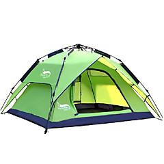 DesertFox® 3-4 henkilöä Teltta Kaksinkertainen teltta Yksi huone Automaattinen teltta Vedenkestävä Sateen kestävä varten Retkeily