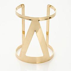 Dames Cuff armbanden Modieus Legering Geometrische vorm Sieraden Voor Bruiloft Feest Speciale gelegenheden 1 stuks