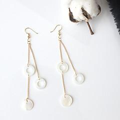 女性用 ドロップイヤリング 欧米の ファッション 貝殻 合金 円形 ジュエリー 用途 パーティー 日常