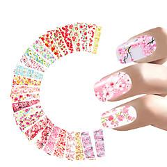 24 Nagel-Kunst-Aufkleber Wasser Transfer Aufkleber Make-up kosmetische Nagelkunst Design