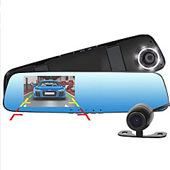 New Full HD 1080P Dash Cam Car Dvr Camera Mirror With Dual Lens Video Recorder Auto Dvrs Rearview Cameras 6 Led Light