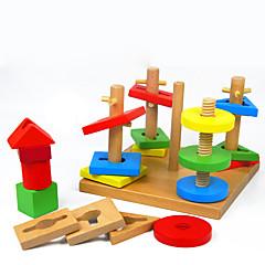 Pinnepuslespill som Gave Byggeklosser Modell- og byggeleke Firkantet Tre 2 til 4 år 5 til 7 år Leketøy