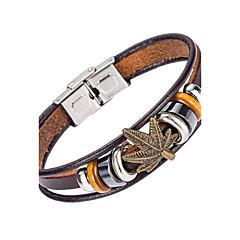 Homme Bracelets en cuir Bijoux Naturel Mode Cuir Alliage Bijoux Pour Occasion spéciale Sports